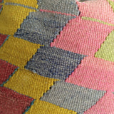 Decorative Kilim Pillow with Pink medallion - Sophie's Bazaar - 3