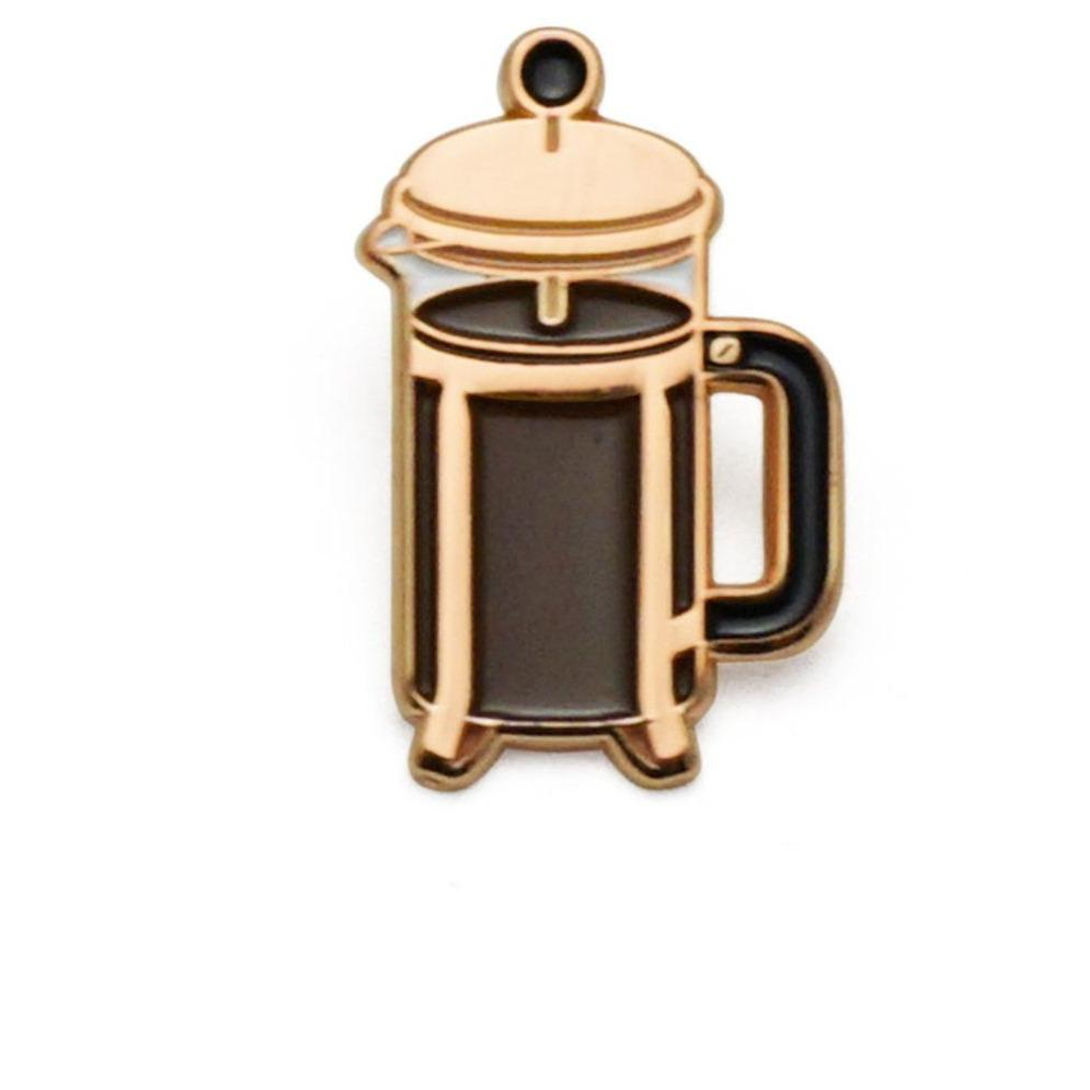 Coffee Press Pin-Accessories - Patches + Pins-Burro