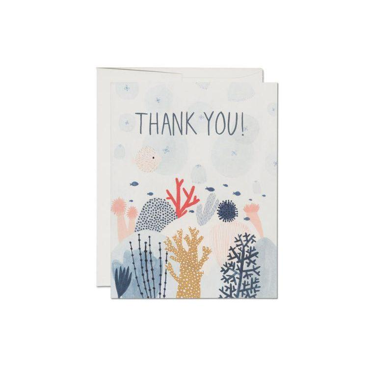 coral reef thank you card