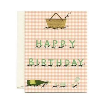 happy birthday picnic card