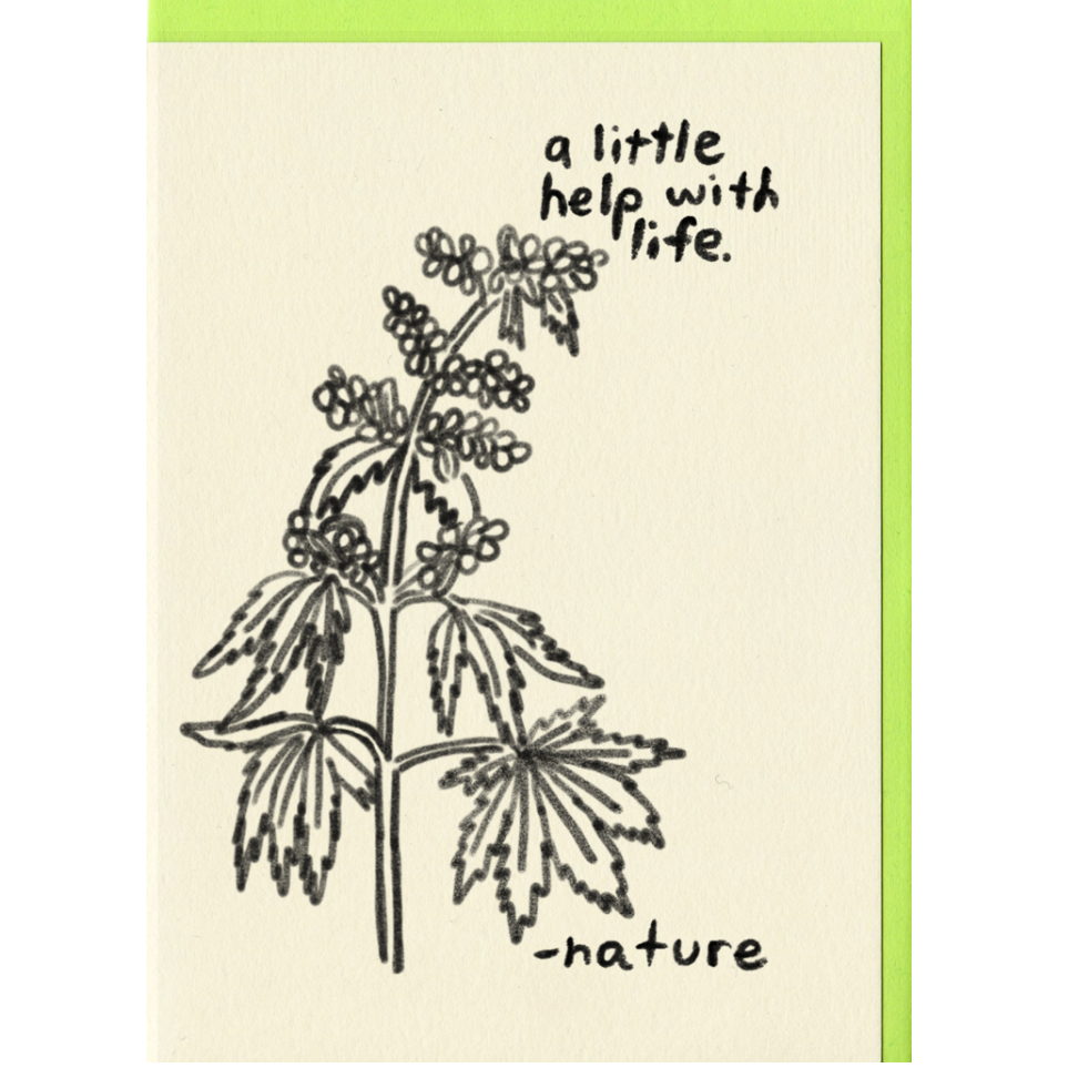 little help with nature card