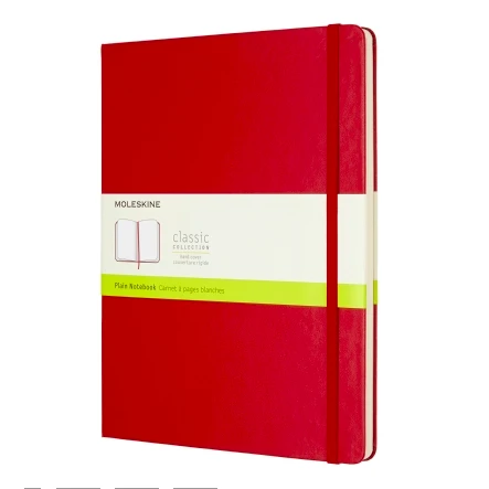 Moleskine Ruled Large Notebook Red-Stationery - Notebooks-Burro