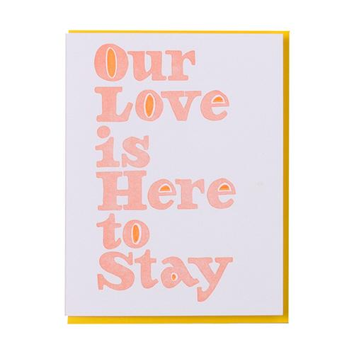 our love greeting card