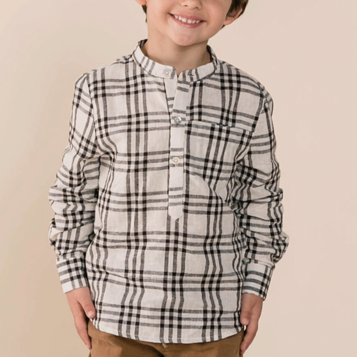 Rylee And Cru Mason Shirt Check-Kid Clothing + Dress Up - Boy-Burro
