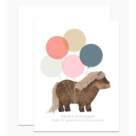 Shetland Pony Birthday Card