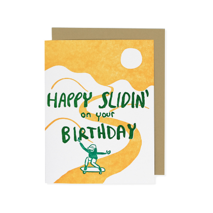 slidin' birthday card