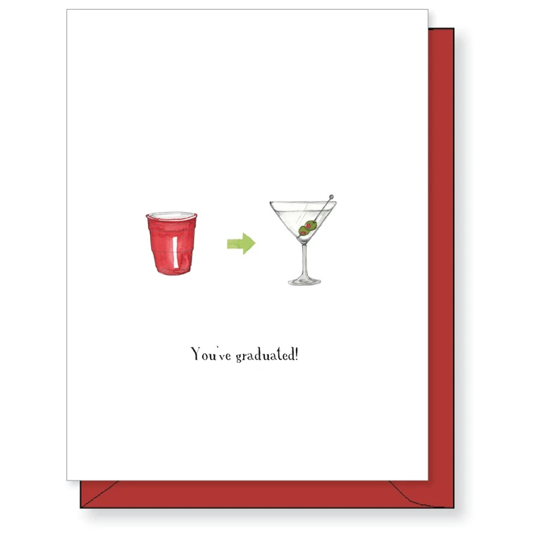 solo cup martini card