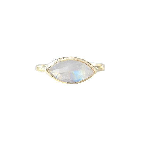 misa 14k tribe moonstone ring sz 7