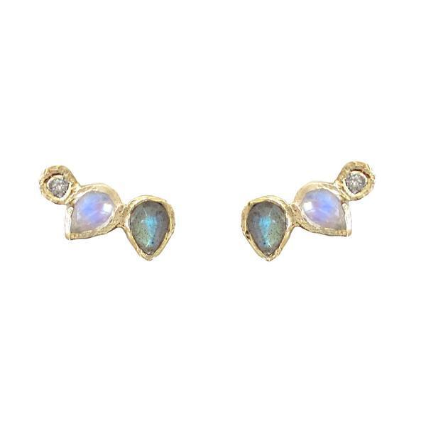 misa water14k  lily multi earrings