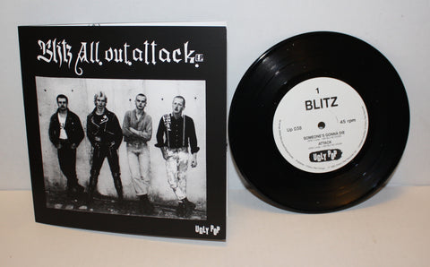 "Blitz - All Out Attack 7"" (Ugly Pop Repress)"