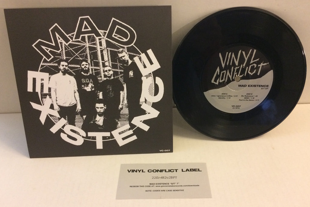 Mad Existence - S/T 7""