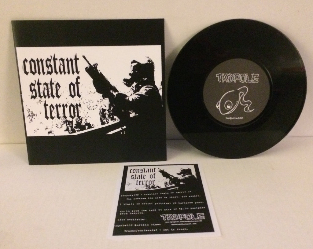 "Constant State Of Terror - S/T 7"" (Black/500) Used"
