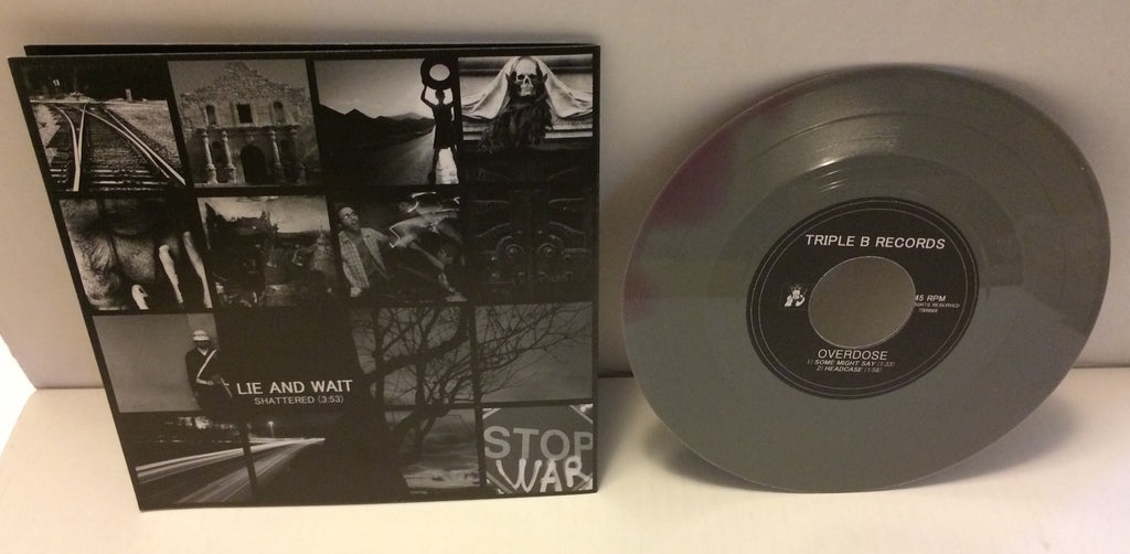"Lie And Wait / Overdose - Split 7"" (Gray/Purple/400) Used"