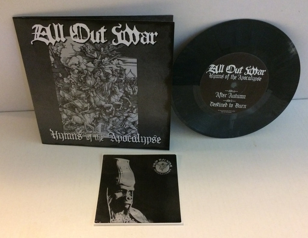 "All Out War - Hymns Of The Apocalypse 7"" (Gray/290) Used"