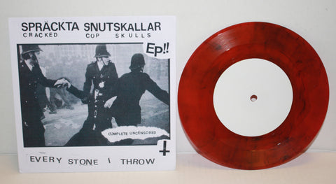 "Cracked Cop Skulls - Every Stone I Throw 7"" (Red/250)"