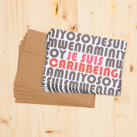 JE SUIS CARIBBEING Notecard Set (Set of 5)