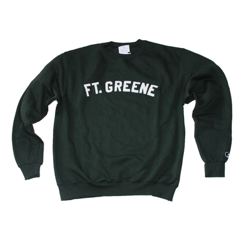 FT. GREENE Varsity Crewneck with Sewn Felt Lettering