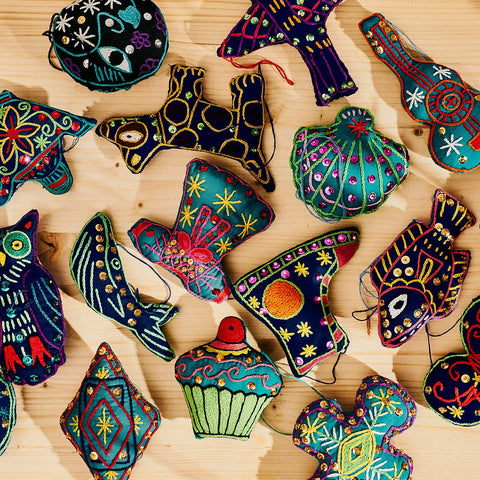 Art Matènwa : Embroidered Handmade Ornaments