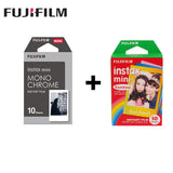 2 Packs Mini Fujifilm Instax Film Monochrome + Rainbow For Polaroid  Mini 8 7s 7 50s 50i 90 25 dw Share SP-1 Instant Mini Camera