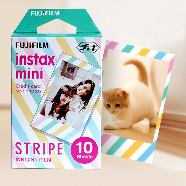 Fujifilm Instax Mini Instant Color Film Stripe Polaroid Mini 7s 8 25 50s 90 SP-1