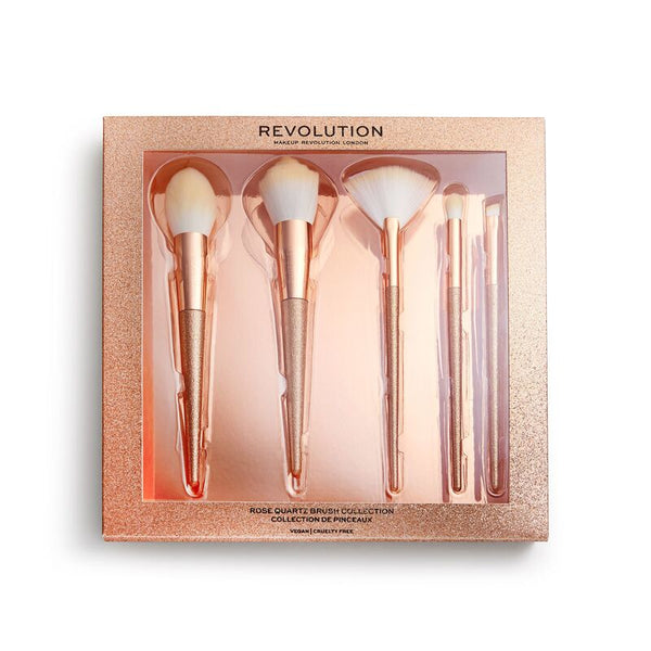 Revolution Precious Stone Brush Set Rose Quartz