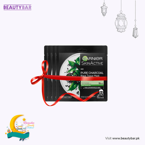 Pure Charcoal 4-in-1 Tissue Masks, Black Algae