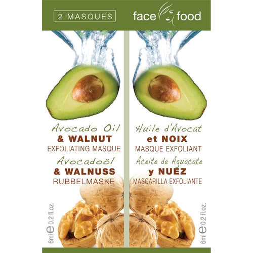 Face Food Avacado Oil & Walnut 2 x 6ml