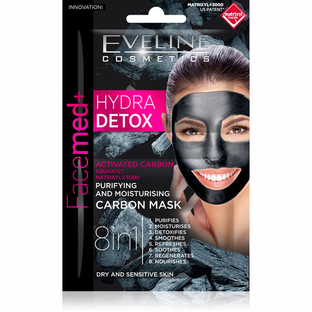 Glitter Face Sheet Mask  Black 10 ml