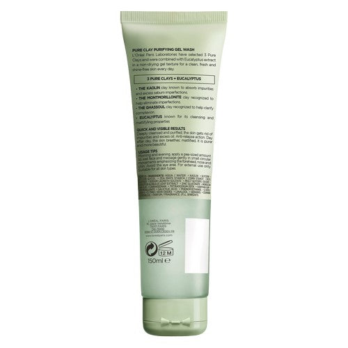 Pure Clay Eucalyptus Purifying Face Wash, Green 150ml