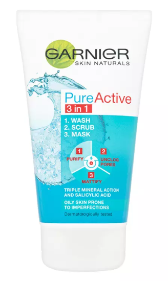 Pureactive 3in1 Face Wash/Scrub/Mask