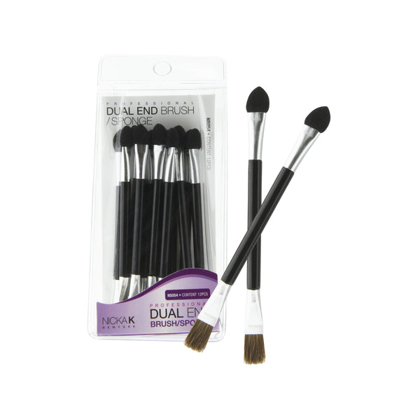 NICKA K DUAL END BRUSH/SPONGE