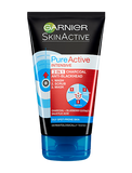 Pure Active 3 in 1 Charcoal Blackhead Face Wash Mask Scrub 100ml
