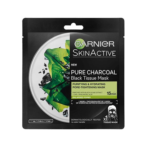 Pure Charcoal Black Algae Tissue Mask, Pore Tightening