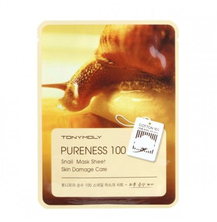TONYMOLY Pureness 100 Snail Mask Sheet Skin Damage Care