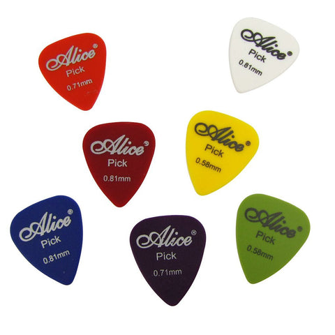 Alice 12Q 12pcs 0.58 0.71 0.81mm Guitar Picks