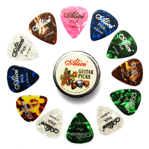 Alice A011C Metal Box With Guitar Picks