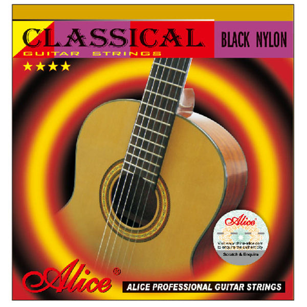 Alice A107BK Black Nylon Classical Guitar Strings 0285""