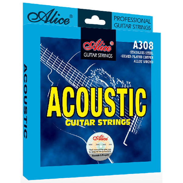 Alice A308 Acoustic Guitar Strings 011-052