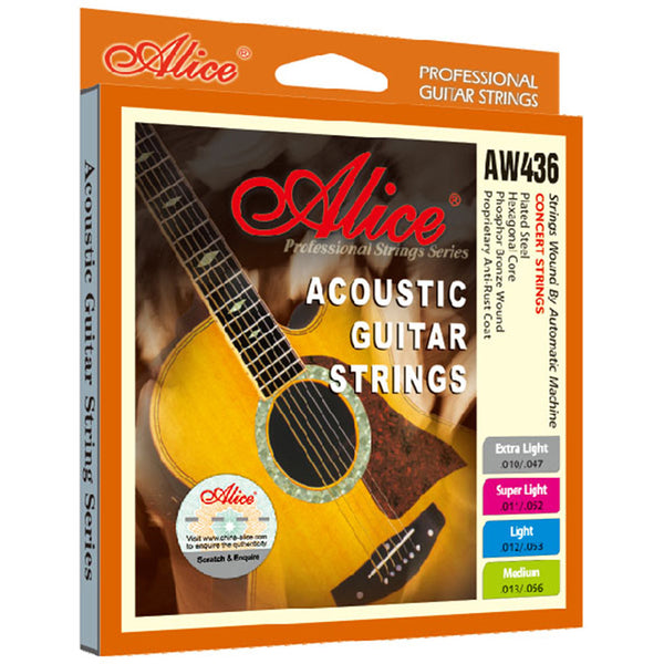 Alice AW436P Acoustic Guitar Strings 010-047 inch