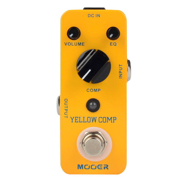 Mooer MCS2 Yellow Comp Compressor Effect Pedal
