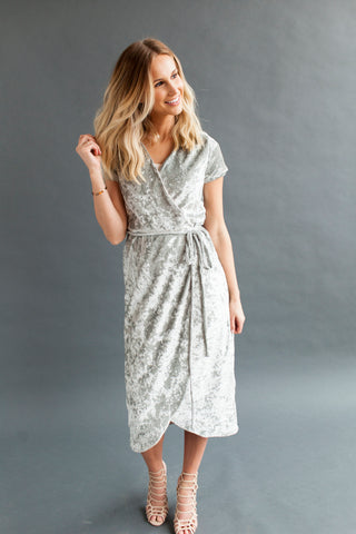 Chambray - Bell Sleeve Nursing Dress