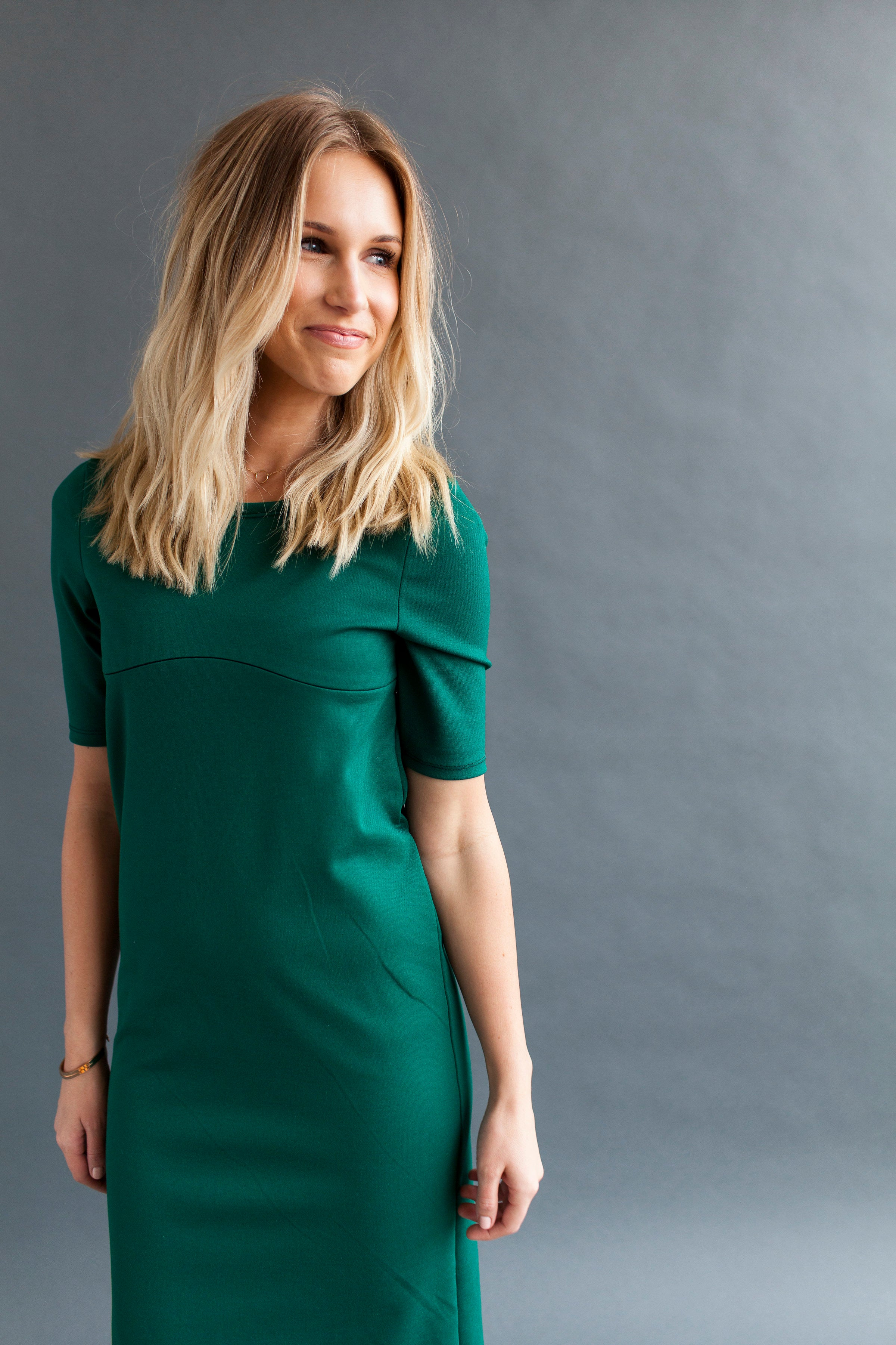 Shift Nursing Dress - Emerald
