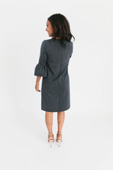 Slate Grey - Bell Sleeve Nursing Dress