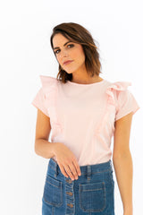 The Ruffle Top - Blush
