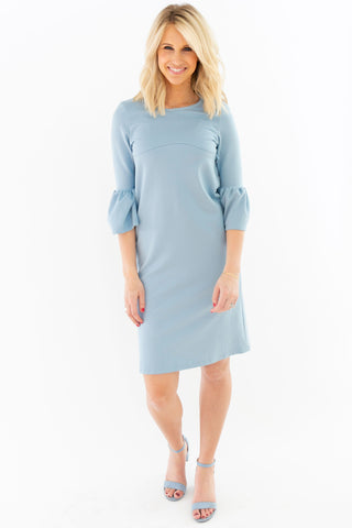 Cream - Bell Sleeve Nursing Dress
