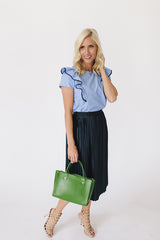 The Ruffle Top - Blue