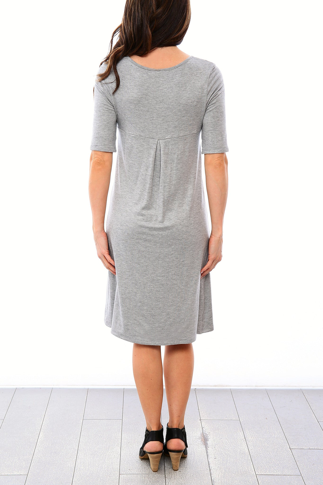 Swing Nursing Dress - Heather Grey - Final Sale