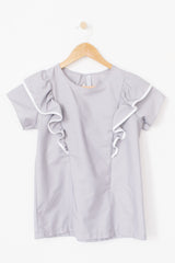 The Ruffle Top - Grey