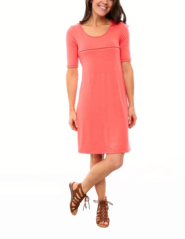 SALE - Swing Nursing Dress - Coral