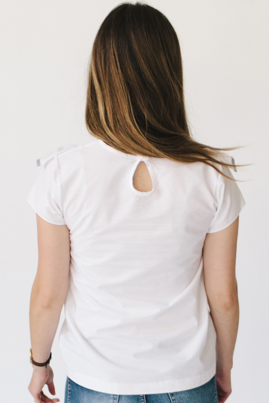 The Ruffle Top - White